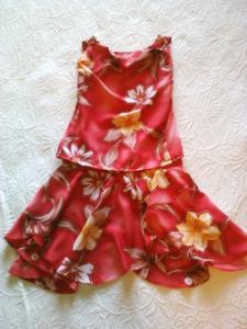 Red Floral Ballet Costume